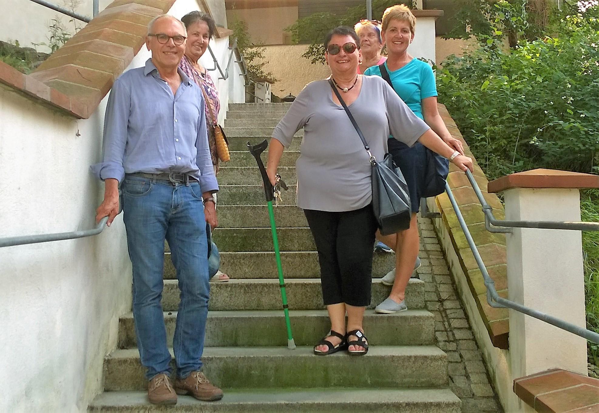 Einmal runter, einmal rauf – Burgauer Treppenführung