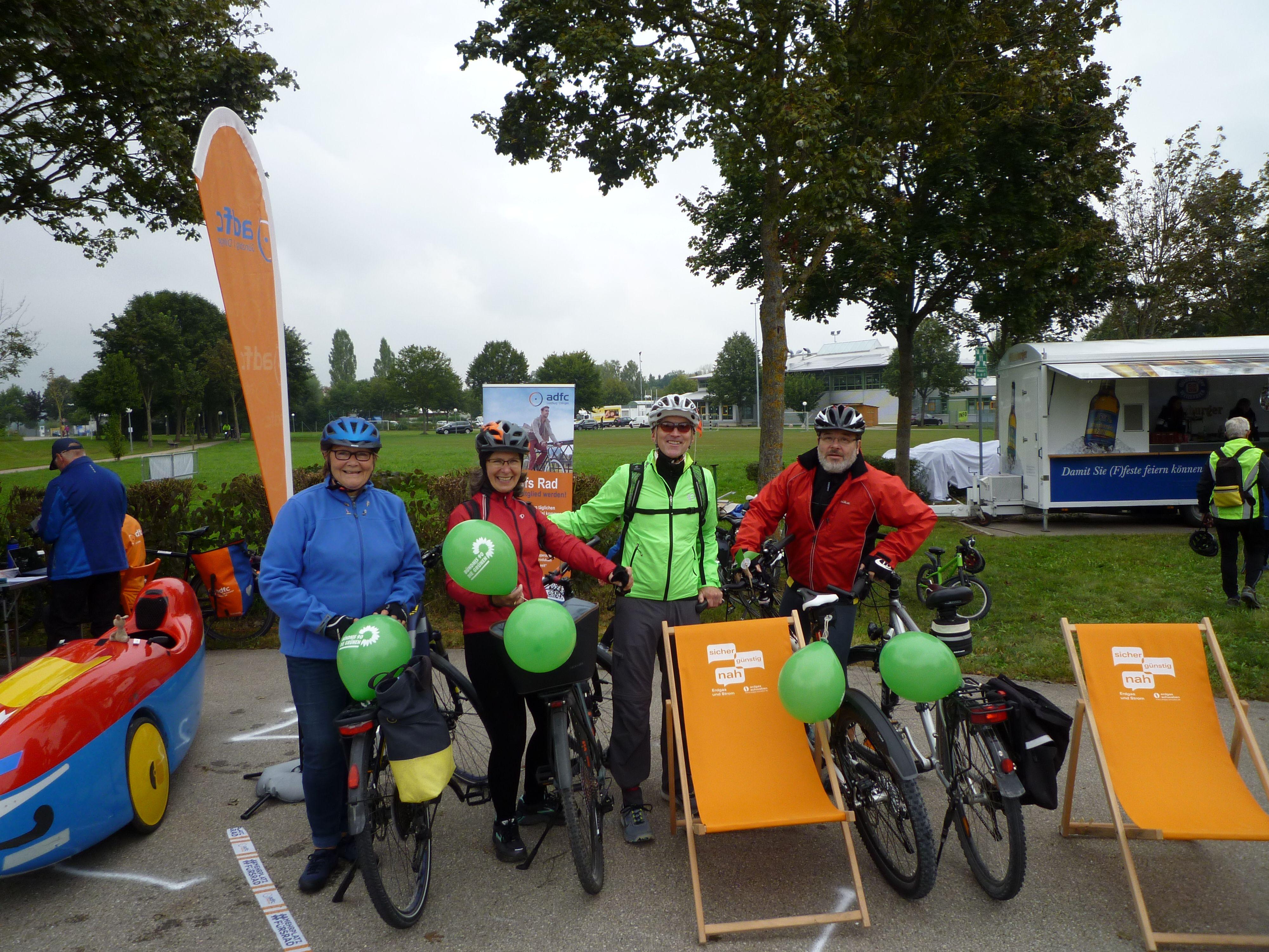 Die Grünen Radler beim Donautal Radelspaß