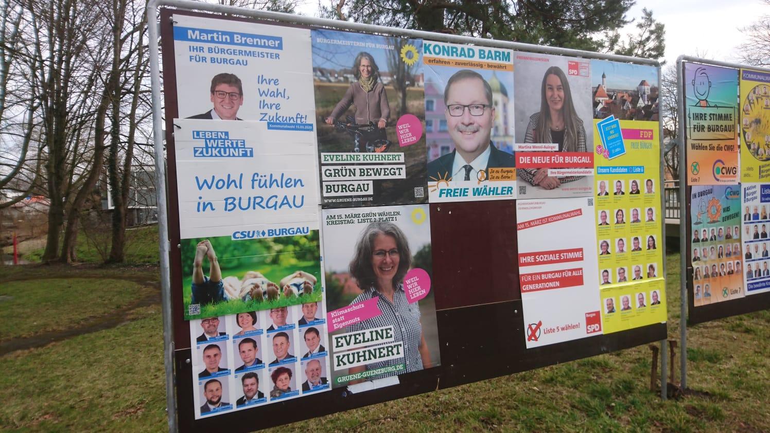 Ressourcenschonender Wahlkampf in Burgau